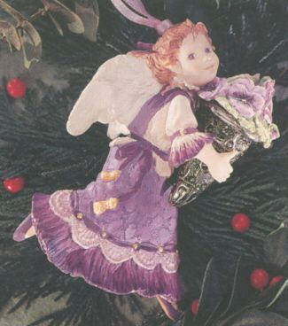 1996 Language of Flowers #1: Pansy Angel Hallmark ornament