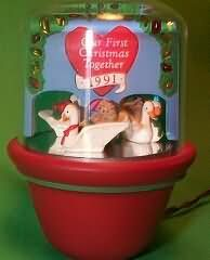 1991 Our First Christmas Together (no box) Hallmark ornament