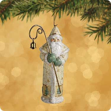 2002 Memories of Christmas: Yuletide Santa Hallmark ornament