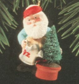 1992 Green Thumb Santa Hallmark ornament