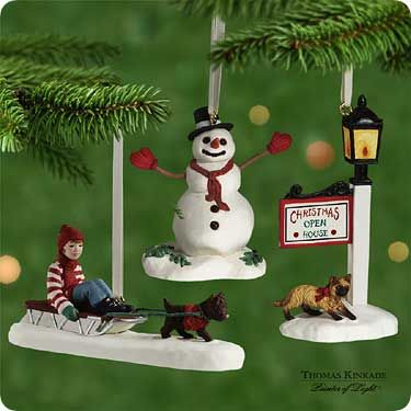 2001 Thomas Kinkade: Victorian Christmas Memories Hallmark ornament