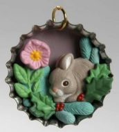 1996 Holiday Bunny (miniature ornament)
