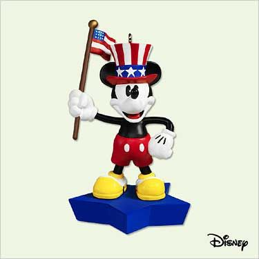 2005 Disney's Mickey Mouse: True Patriot Hallmark ornament