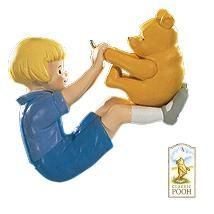 1999 Winnie the Pooh and Christopher Robin Too #1: Playing with Pooh Hallmark ornament
