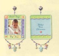 2007 Baby's First Christmas Photo Holder ornament