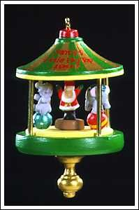 1997 Santa's Little Big Top #3 (Miniature ornament) Hallmark ornament